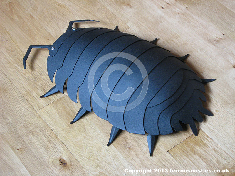 Woodlouse Sculpture Powder Coated